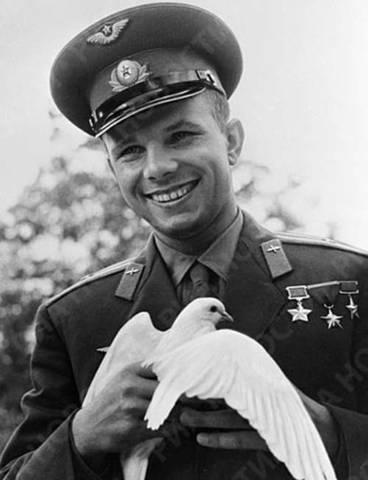 Первый в истории пилотируемый полёт в космос Ю. А. Гагарина