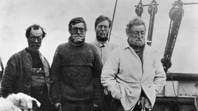 Ernest Shackleton, Frank Wild, Eric Marshall and Jameson Adams attempted to reach the South Pole