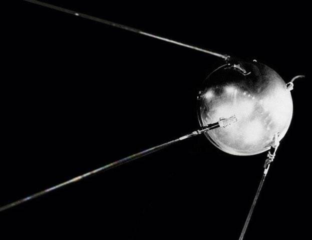 USSR sends Sputnik 1 into space
