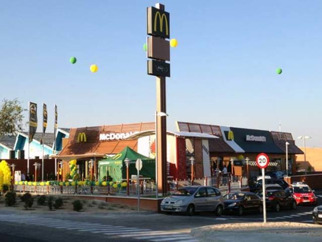 Construcción del primer McDonald en Valdemoro