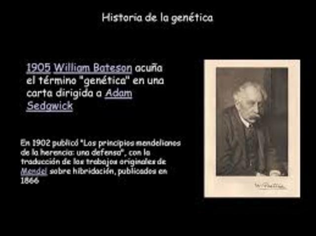 William Bateson acuña el término «genética» en una carta dirigida a Adam Sedgwick.