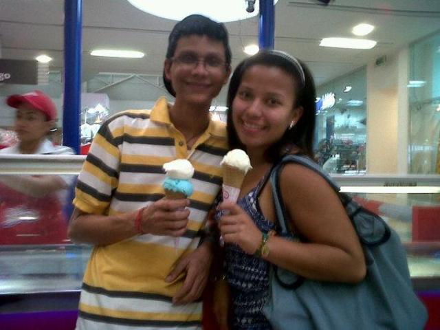 Comiendo helado con la prima