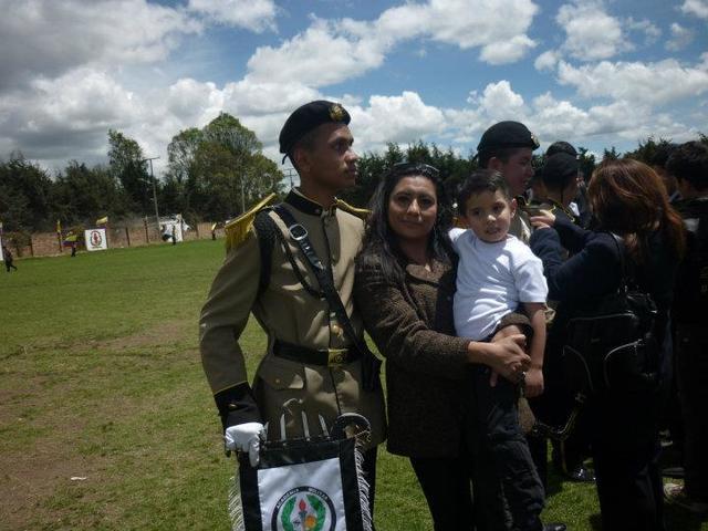 Camilo y su madre.