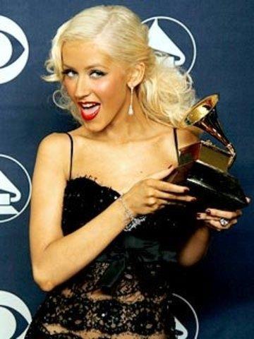 Christina Aguilera won a Grammy