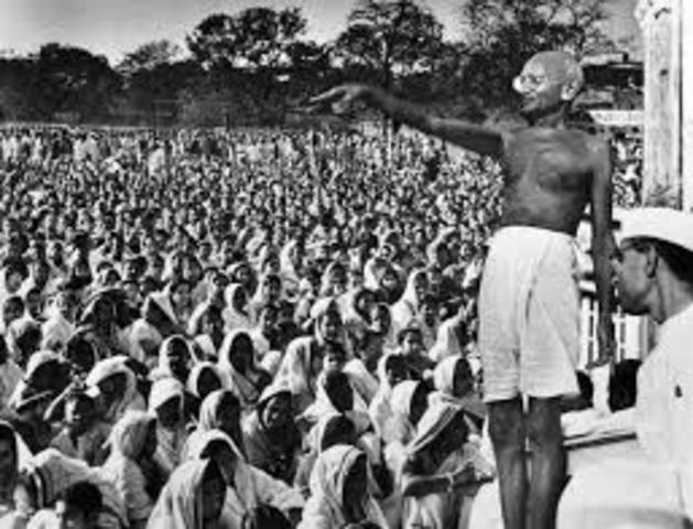 Gandhi   Gandhi organizes acts of satyagraha