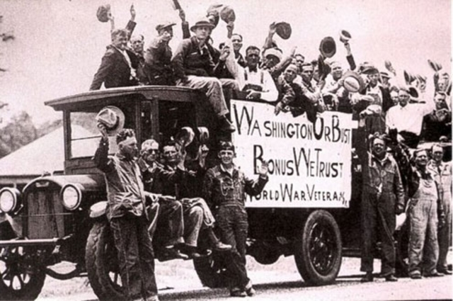 WWI Veterans Start the March and Create the Bonus Army
