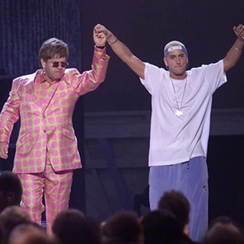 Performance with Elton John