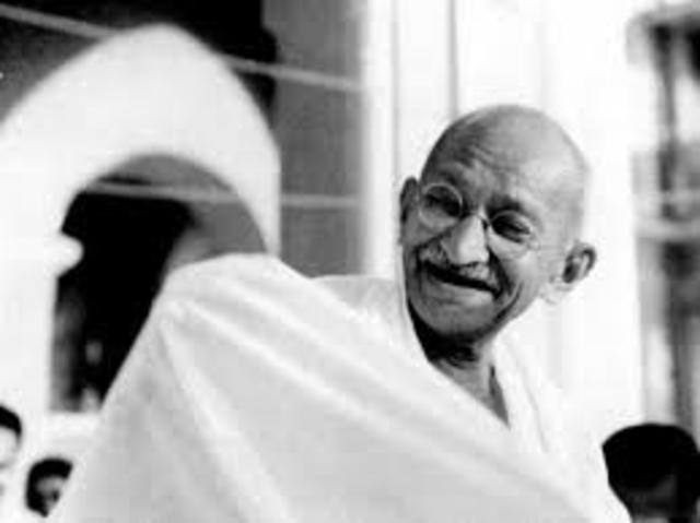 Gandhi is given the title Mahatma.