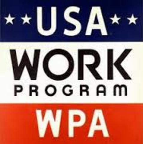 Works Progress Administration created