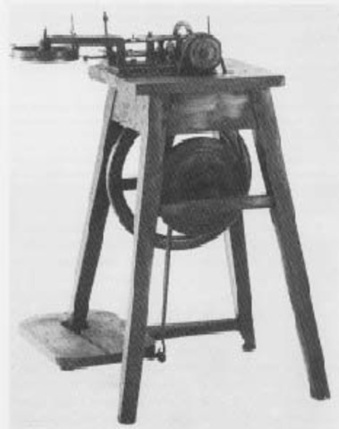 Baltasar Krems created a unique form of sewing machine
