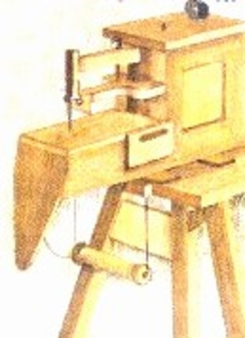 Barthelemy Thimonnier created a wood sewing machine