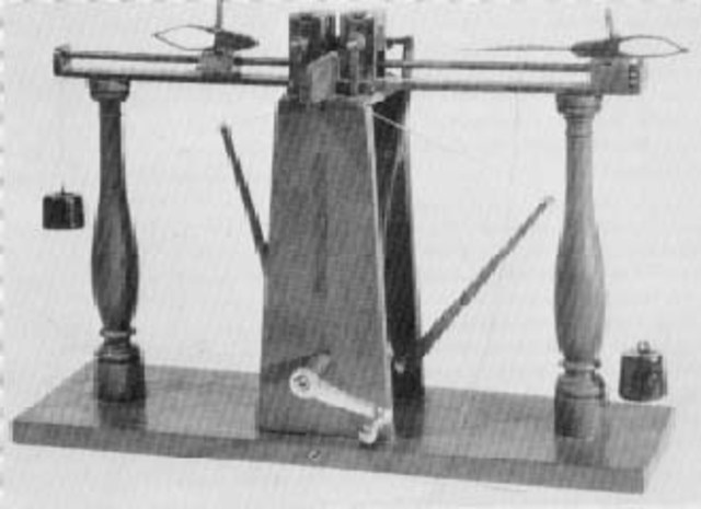 John James Greenough created a sewing machine with a stitch forming mechanism