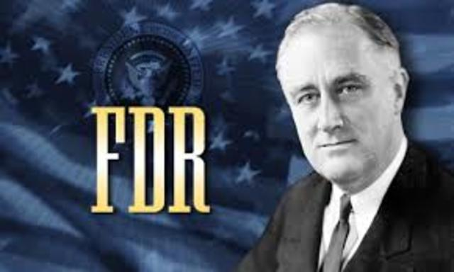 FDR elected to second presidential term