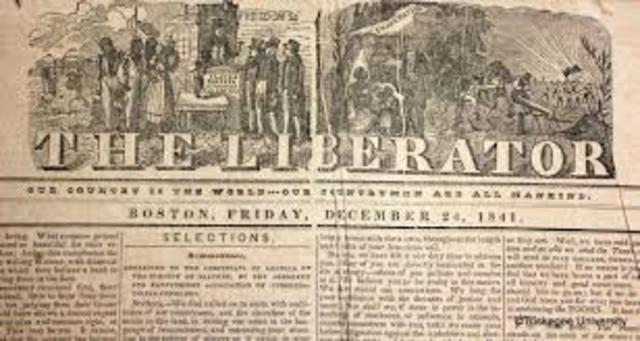 William Lloyd Garrison Publishes The Liberator