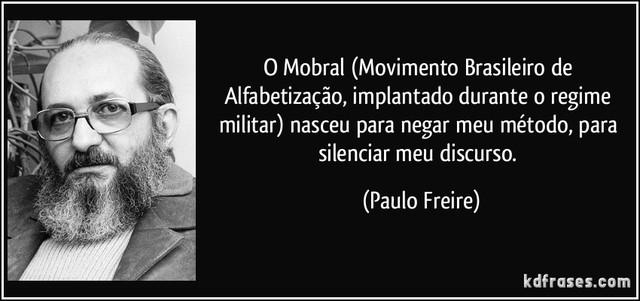 MOBRAL-Movimento Brasileiro de Alfabetização