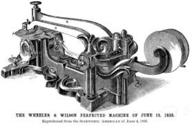 Allen Wilson and Nathaniel Wheeler created an form of sewing machine