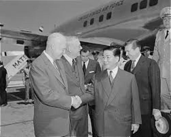 Ngo Dinh Diem becomes president of Vietnam