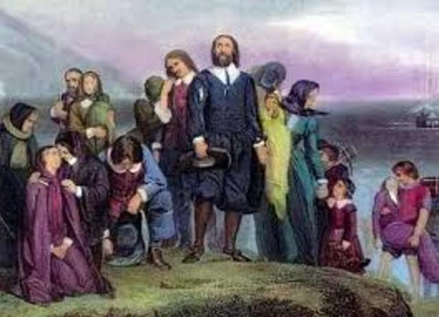 Pilgrims arrive in New World