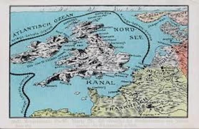 "Germany declares a ""war zone"" around Great Britain."