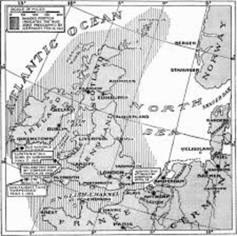 Germany declares a war zone around Great Britain,