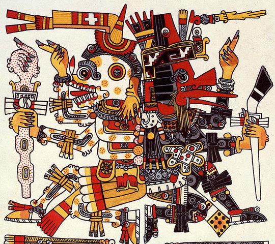 Mictlantecuhtli and Quetzalcoatl
