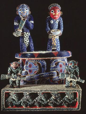 Throne and footstool of King Nsangu