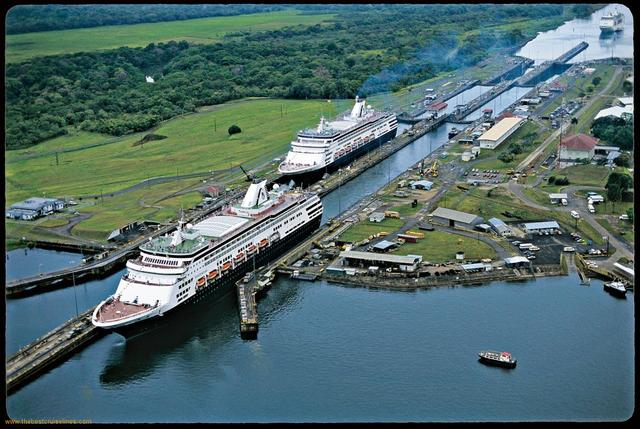 The Panama Canal offically opens