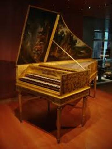 The shop of a harpsichord maker