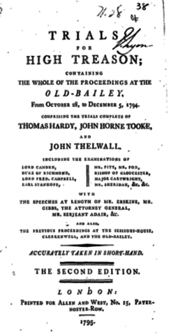 Treason trials, Romanticism