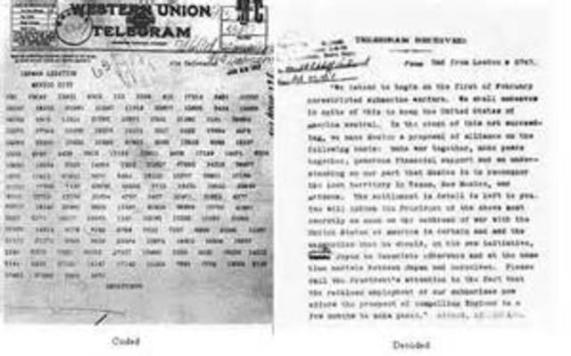 Zimmerman Telegram is Published in the U.S.