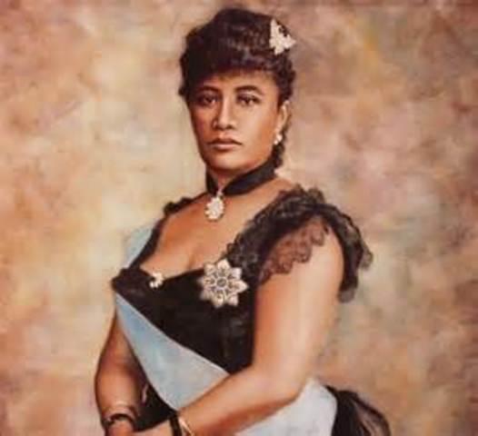 Queen Liliuokalani is Dethroned