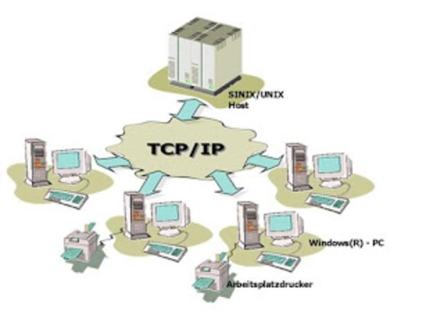 DCA y la ARPA nombren a TCP e IP como el conjunto de protocolos TCP/IP