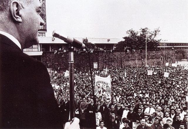 Inicio del Movimiento Estudiantil 1968