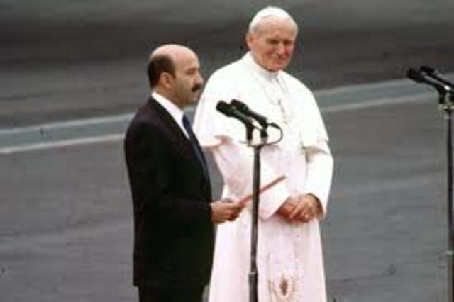 Primera visita del Papa como Jefe de Estado