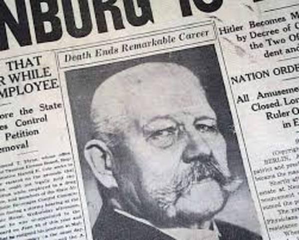 Death of Paul von Hindenburg