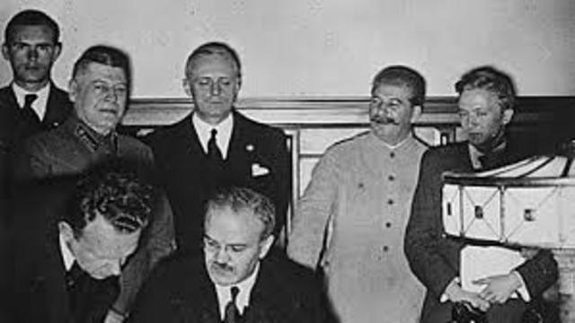 Non-agression pact between Germany and the Sovietic union