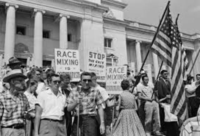 Protests in favor of black american people started