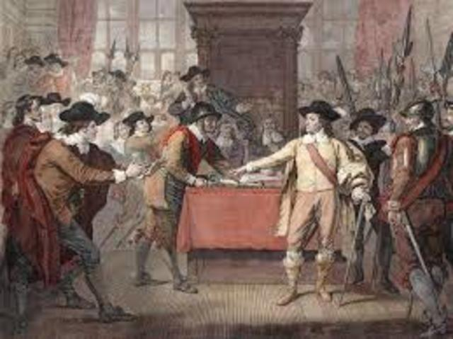 Signing of the Petition of Right