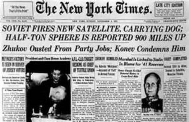 Soviet Sputnik 10 launches dog into Earth orbit