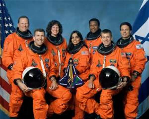 Space Shuttle Columbia -  Four American astronauts deployed two commercial communications satellites.