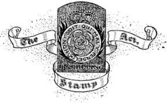 Stamp Act goes into affect