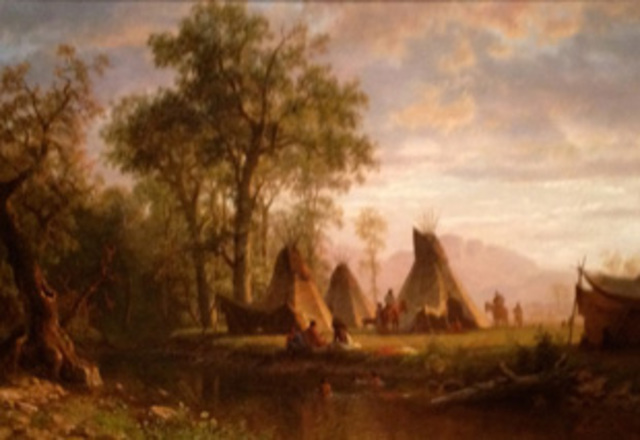 Indian Encampment by Bierstadt