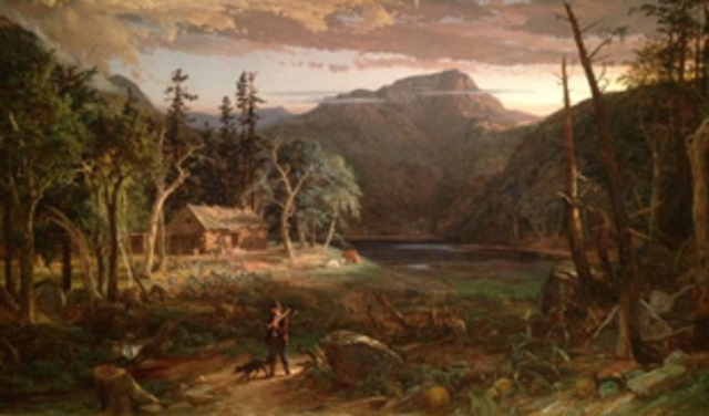 The Backwoods of America by Cropsey