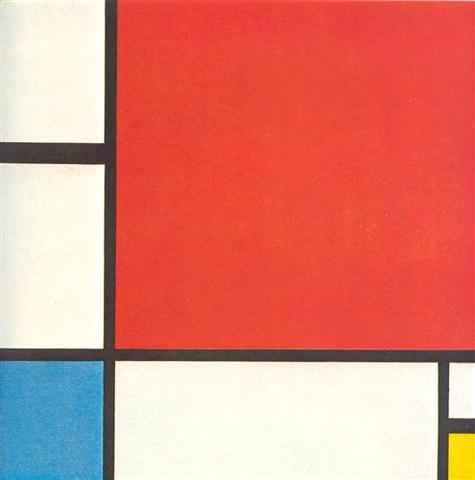 Composition with Red, Blue, and Yellow