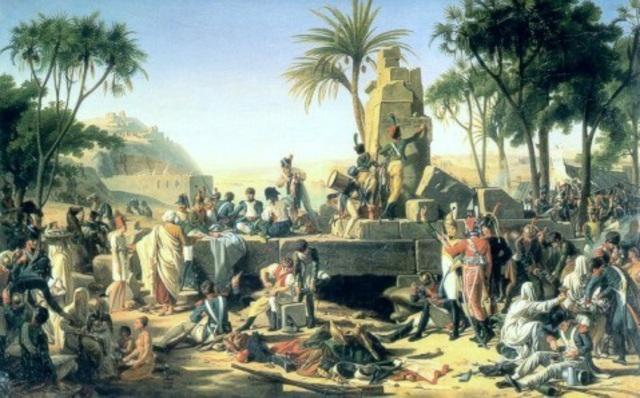 Napoleons army discovers the Rosetta Stone