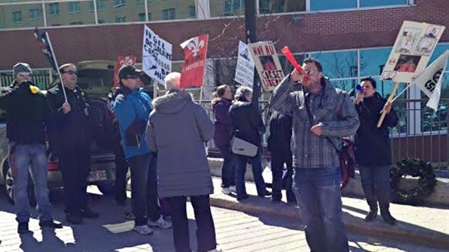 Manifestation en Outaouais