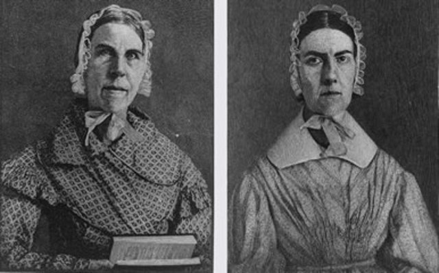 Sarah and Angelina Grimke wrote Letters on the Condition of Women and the Equality of the Sexes