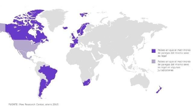 ¿En qué países del mundo es legal el matrimonio de parejas del mismo sexo?