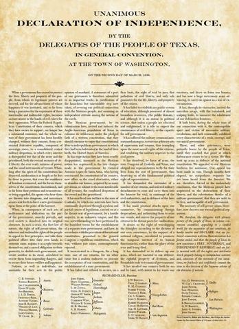 Texas Declaration of Independance.