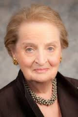 Madeleine Albright became first female US Secretary of State